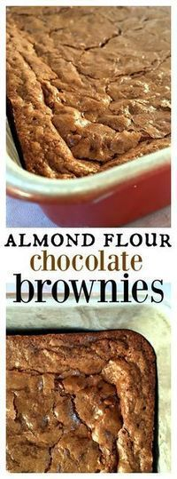 Make-ahead Almond Flour Chocolate Brownies, gluten-free, and can be frozen for up to 3 months!