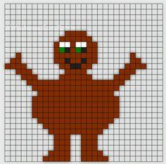 Min mamma jobbar som Förskollärare och frågade om jag kunde göra Babblarna i pärlplattor. Så jag satte mig ner vid skrivbordet och började pyssla ihop lite pärl Hama Beads Design, Hama Beads Patterns, Beading Patterns, Knitting Patterns Boys, Loom Knitting, Diy For Kids, Crafts For Kids, Small Cross Stitch, Classroom Crafts