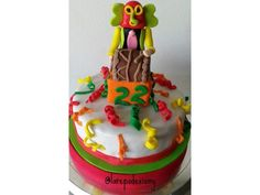 Fondant, Birthday Cake, Desserts, Cakes, Ideas, Food, Carnival Cakes, Carnival Parties, Celebrations
