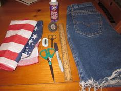 DIY American Flag Shorts.