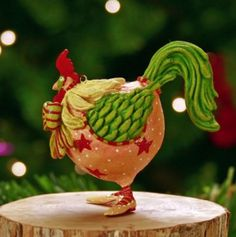 Patience Brewster Christmas Ornament-Mini Donald Rooster