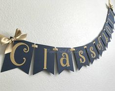 Class of 2017 Graduation Banner in Navy Blue and Gold.  Graduation Party Decorations.  Customize your Colors! Preschool Graduation, Graduation Banner, College Graduation Parties, Graduation Gifts, Graduation Ideas, Graduation Images, Blue Party Decorations, Reunion Decorations, Graduation Decorations