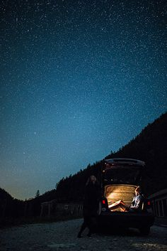 The stars over the Austrian Alps.