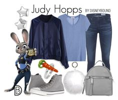 """""""Judy Hopps"""" by leslieakay ❤ liked on Polyvore featuring AG Adriano Goldschmied, Converse, Marni, Bling Jewelry, Chicwish, Oscar de la Renta, Abro, disney, disneybound and disneycharacter"""