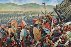 Alesia - Celtic relief force attacks the outer ring of the Roman besiegers camp.