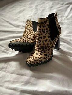 Shoedazzle Animal Print Faux Suede Platform Heel Boots UK Size 7.5 | eBay Ankle Boots Uk, Heel Boots, Shoe Dazzle, Toe Shape, Slow Fashion, New Shoes, Platform, Booty, Animal