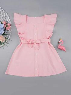 Baby Girl Frocks, Frocks For Girls, Little Girl Outfits, Little Girl Fashion, Toddler Girl Dresses, Girls Dresses, Toddler Girls, Fashion Kids, Toddler Fashion