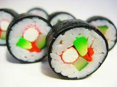 Polymer clay sushi roll