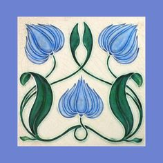 """26 Original Art Nouveau tile by Corn Brothers (1903). Courtesy of Robert Smith from his book """"Art Nouveau Tiles with Style"""". Image enhancement by streets-of-barcelona.com. by sharron"""