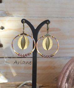 Boucles d'oreilles Ariane collection Ice par LesMisstinguettes