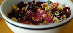 Lime and Beet Coconut Cream Chowder