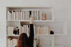 books backwards on shelves