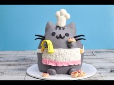 Pusheen Cat Cake goes perfectly with my Pusheen Cat Cookies. Be sure to check out my video on how to make adorable Pusheen Cat Cookies after you are done wat...