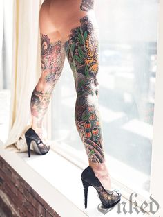 How can you resist a pair of sexy tattooed legs? Check out our gallery of leg and upper thigh tattoos.