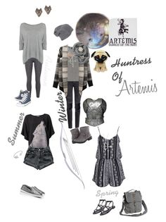 Huntress of Artemis :D by amypaul713 on Polyvore featuring polyvore, fashion, style, Calvin Klein, Closed, Chicnova Fashion, Oui, Boohoo, Levi's, H&M, Muk Luks, Tory Burch, Converse, Tom Binns, Tressa, Blu Bijoux, Smartwool, Suoli, Steve Madden and clothing