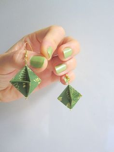 Elegant Origami Earrings Architect by ArsOrigami on Etsy, €15.00