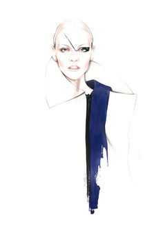 Fashion Illustrations Luis Buchinho for Portuguese Soul Magazine - António Soares - Face Illustration, Fashion Illustration Sketches, Fashion Sketchbook, Fashion Sketches, Fashion Drawings, Portrait Illustration, Mode Collage, Fashion Design Portfolio, Fashion Figures
