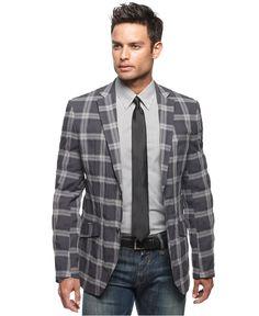Grey Sport Coat, Mens Sport Coat, Sport Coats, Orange Jacket, Plaid Jacket, Top Mode, Mens Attire, Mens Suits, Blazers For Men