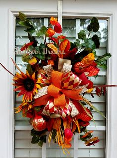 Check out this item in my Etsy shop https://www.etsy.com/listing/533747861/fall-wreath-for-front-door-floral-fall