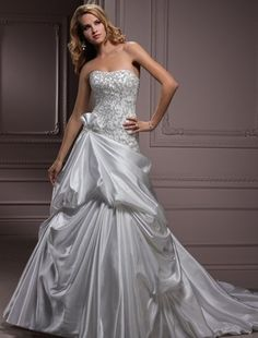 Maggie Sottero - Strapless A-Line Gown in Satin