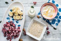 Himbeer Banane Porridge für Kinder und Erwachsene
