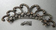 Black dot paste aigrette/tiara c1790