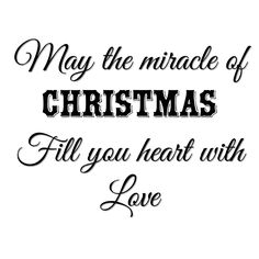 Jesus is the miracle of Christmas, and can fill your heart with love!!!:):)