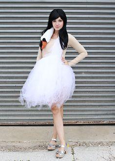 Costume Tutorial for the Bjork Swan dress