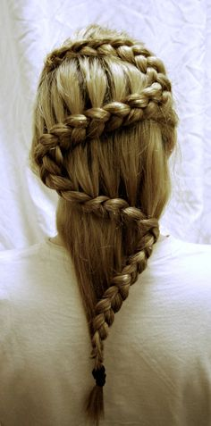 Fantastic French plait can be very creative when doing french plaits