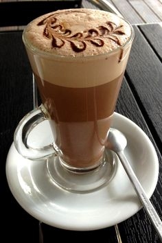 .·:*¨¨*:·.Coffee ♥ Art.·:*¨¨*:·. Iced coffee latte art