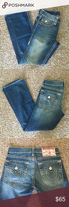 True Religion Jeans Ricky Super T. Seat 34. Only worn a few times. Amazing condition. No damage to bottom of the pants. Comes from a smoke free animal free home. True Religion Pants