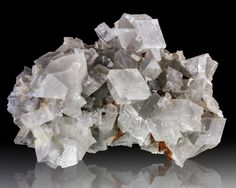Dolomite, 12.5 cm translucent gray rhombohedral crystals to 1.3 cm. Spain. 1990s