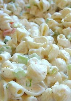 Creamy Southern Pasta Salad - This one is, in my opinion, the best. Guaranteed to be a hit at potlucks and picnics or a simple weeknight meal. Recipe for Creamy Southern Pasta Salad No Getting Off This Train- All Things Meal Planning jaimebacon Sid Pasta Dishes, Food Dishes, Side Dishes, Pasta Recipes, Cooking Recipes, Noodle Recipes, Cooking Ideas, Cold Pasta, Seafood Salad