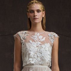 "Ethereally elegant and exquisitely embellished, the wedding dresses in Limor Rosen's 2016 ""Treasure"" bridal collection are as delicately beautiful as the jeweled"
