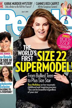 Plus-Size Model Tess Holliday Covers People Magazine http://www.refinery29.com/2015/05/87804/tess-holliday-people-magazine