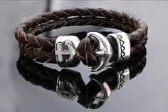 Men Anchor bracelet Anchor bracelet Leather bracelet for
