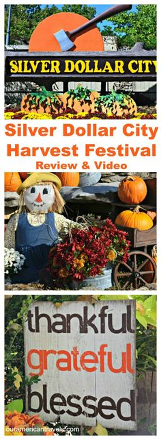 Silver Dollar City Harvest Festival - Have you ever been to #Silver Dollar City theme #park? Have you ever experienced the fall season at Silver Dollar City?  I am so excited to share my #review and #video with you. #travel #American #theme parks #Branson #Branson Mo  SEE MY REVIEW HERE: http://ouramericantravels.com/silver-dollar-city-harvest-cowboy-festival/