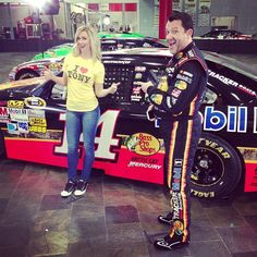 Tony Stewart commercial shoot. Funny:)