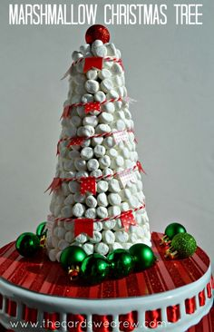 Hot Cocoa Bar Marshmallow Christmas Tree Decor