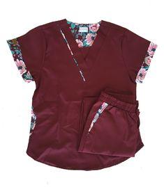Cute Nursing Scrubs, Cute Scrubs, Scrubs Pattern, Stylish Scrubs, Scrubs Outfit, Greys Anatomy Scrubs, Phlebotomy, Medical Scrubs, Scrub Tops