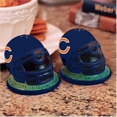 Chicago Bears Ceramic Helmet Salt and Pepper Shakers