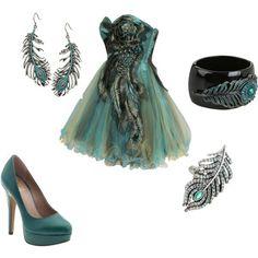 Short Peacock Dress