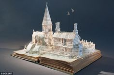 Art out of old books.