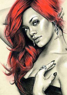 Pop star trilogy - Lady Gaga, Rihanna and Katy Perry via Etsy