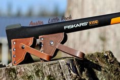 Made of durable Double Shoulder leather, this axe sheath will stand the test of time. This sheath is made specifically for the Fiskars X-Series Axes and the Fiskars 8lb Splitting Maul (Please note, this listing is ONLY for the sheath, NOT the axe itself). Rivets were used to secure