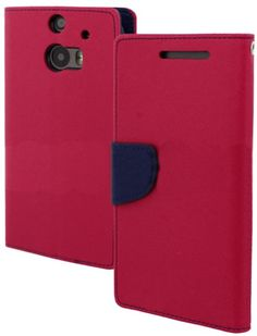 myLife Deep Magenta Pink and Dark Navy Blue {Fancy Bookmark Design} Faux Leather (Card, Cash and ID Holder + Magnetic Closing) Slim Wallet f...