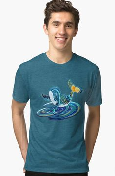 Starry Nite Whale 373. Tri-blend T-Shirt Designed and sold by sana90