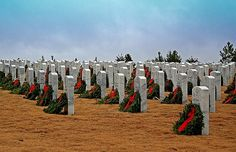 May We Never Forget, National Cemetary, Canton GA, Christmas