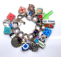 Portugal Charm Bracelet COLORS of the AZORES Acores Sao by Atrio,