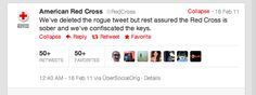 american red cross tweet showing an example of real time marketing